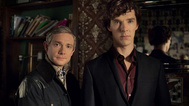 Sherlock: The Empty Hearse: Martin Freeman en Benedict Cumberbatch