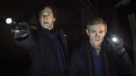 Sherlock: The Empty Hearse: Benedict Cumberbatch en Martin Freeman