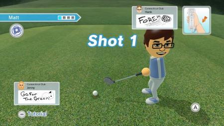 Scrabblen tijdens golf