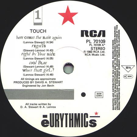 Eurythmics - Touch A