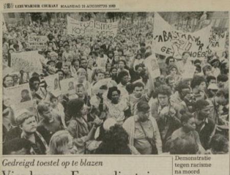 Uit de Leeuwarder Courant van 29 augustus 1983