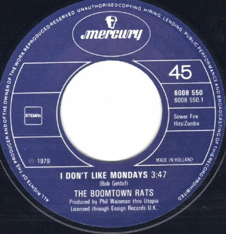 De Nederlandse single van I Don't Like Mondays