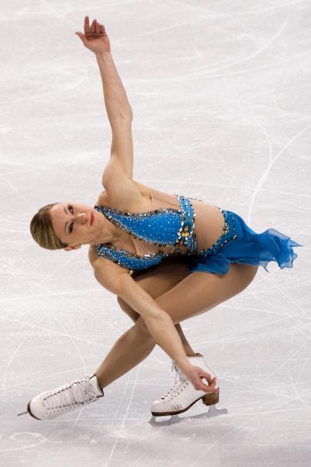 Joannie Rochette in actie tijdens de Winterspelen in Vancouver (PRO SHOTS/ZUMA Sports Wire)