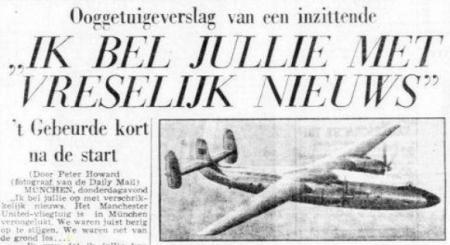 Uit de Telegraaf van 7 februari 1958