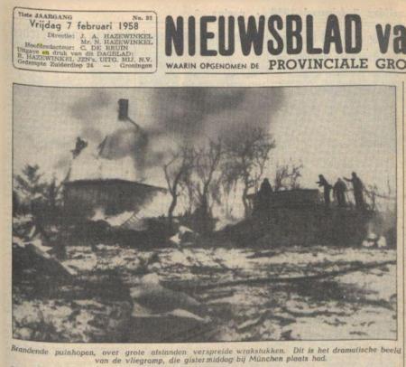 Uit het Nieuwsblad van het Noorden van 7 februari 1958