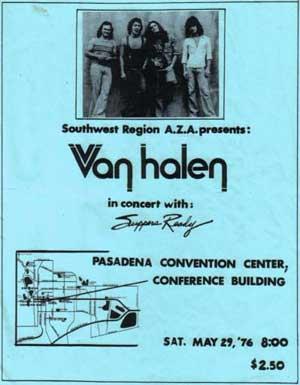 Van Halen flyer uit 1976