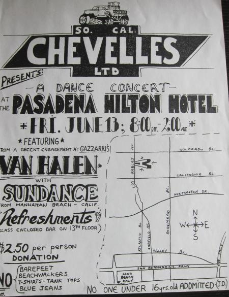 Van Halen flyer uit 1977