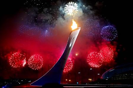 De openingsceremonie werd afgesloten met een spectaculair vuurwerk (PRO SHOTS/GEPA)