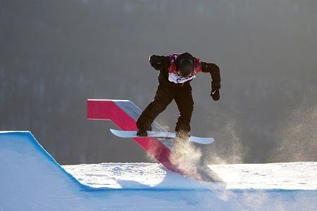 Clemens Schattschneider onderweg op het slopestyleparcours (PRO SHOTS/GEPA)