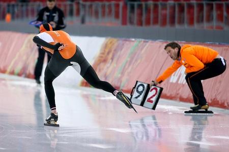 Sven Kramer op weg naar de gouden medaille op de 5000 meter (PRO SHOTS/Bildbyran)