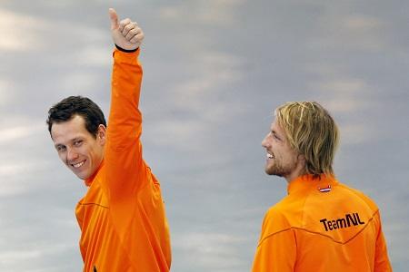 Met een perfecte race behaalde Stefan Groothuis de eerste plaats op de 1000 meter. Michel Mulder wist beslag te leggen op de derde plaats (PRO SHOTS/ZUMA Sports Wire)