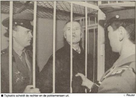Chikatilo is boos op iedereen (Nieuwsblad van het Noorden van 16 oktober 1992)