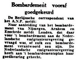 Uit de Leeuwarder Courant van 26 februari 1944