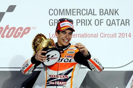 Márquez begon 2014 goed door in Qatar direct te winnen (Foto: PRO SHOTS/Zuma Sports Wire)
