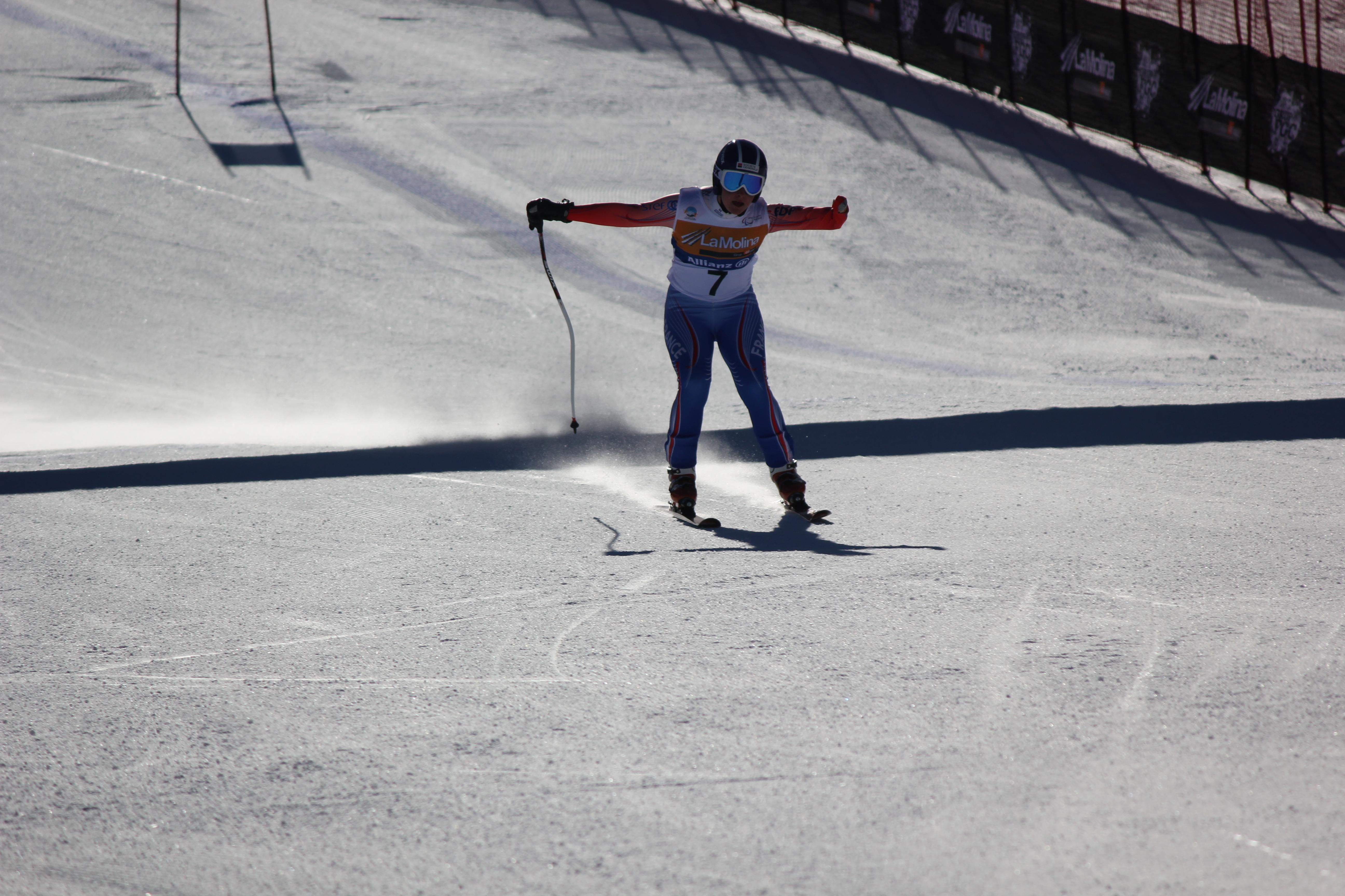 Bochet schreef geschiedenis met vijf wereldtitels alpineskiën, één op elk onderdeel (Foto: WikiCommons/LauraHale)