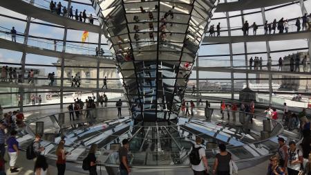 Binnenkant van de Reichstagkoepel