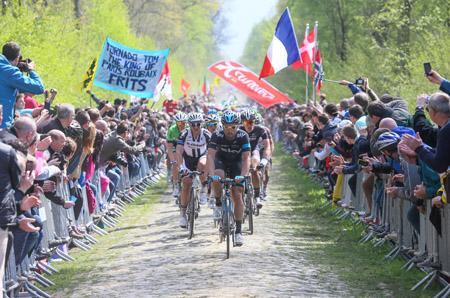 De renners op weg in het Bos van Wallers-Arenberg (PRO SHOTS/George Deswijzen)