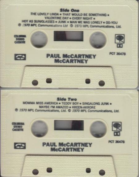 De cassette van McCartney