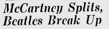 Uit de Schenectady Gazette van 11 april 1970