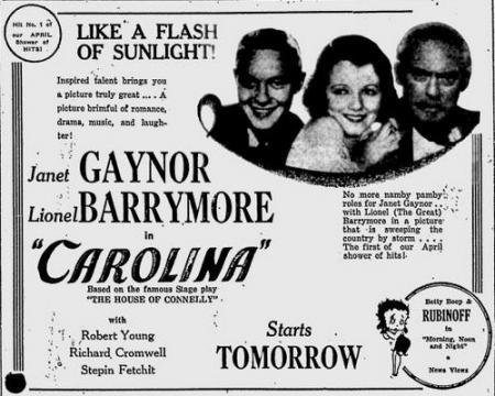 Uit de The Tuscaloosa News van 1 april 1934