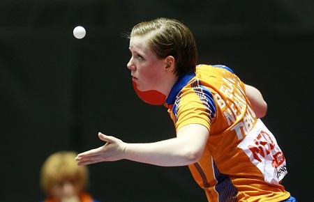 Onze eigen Britt Eerland in volle concentratie op de bal (PRO SHOTS/Actionimages)