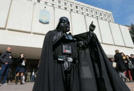 Darth Vader versus Klitsjko in Kiev