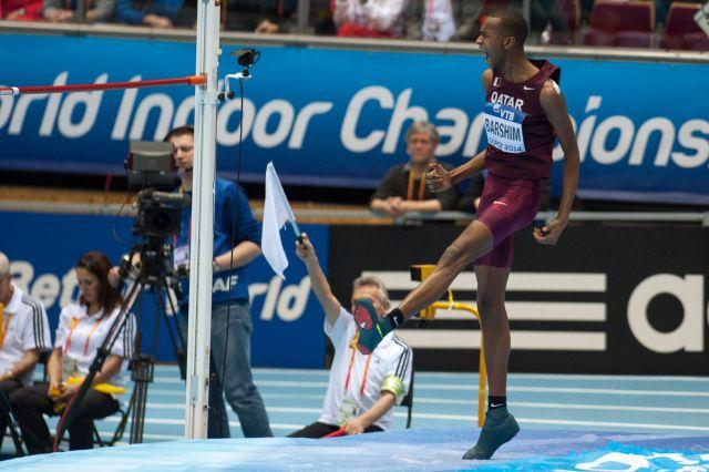 Barshim uit Qatar sprong in maart naar de wereldtitel indoor in Sopot (Foto: WikiCommons/Erik van Leeuwen)