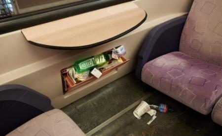 Politie zoekt naar plas in trein