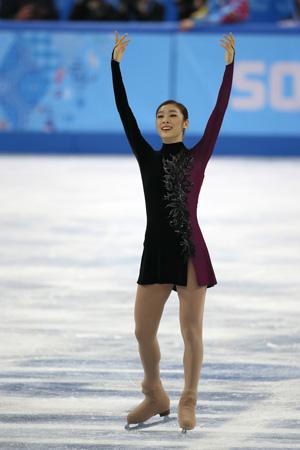 Kim tijdens de Spelen in Sochi, op weg naar controversieel zilver (PRO SHOTS/Henk Jan Dijks)