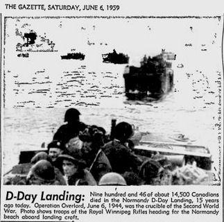 Uit de Montreal Gazette van 6 juni 1959