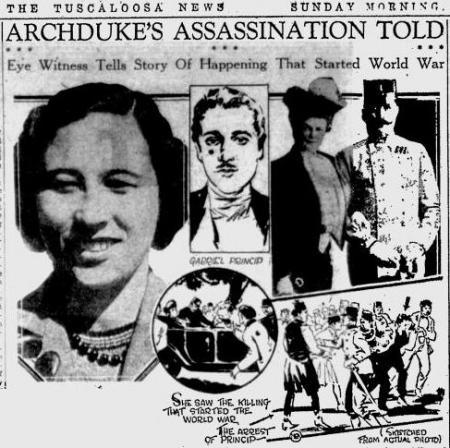 Uit de The Tuscaloosa News van 26 juni 1931