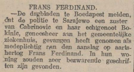 Uit de Tilburgse Courant van 11 juli 1914