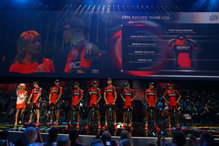 Met acht nationaliteiten is BMC, de ploeg rondom Tejay van Garderen, de meest internationale van deze Tour (PRO SHOTS/Dppi)