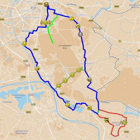 De route van dag 3