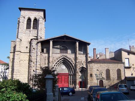 De gotische kerk in Saint-Étienne, gebouwd in de vijftiende eeuw (Foto: WikiCommons/Wikijoe)