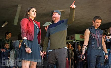 Avengers: Age of Ultron: Joss Whedon met Elizabeth Olsen en Jeremy Renner