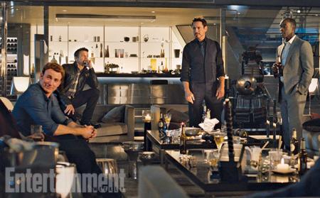 Avengers: Age of Ultron: Chris Evans, Jeremy Renner, Robert Downey Jr en Don...