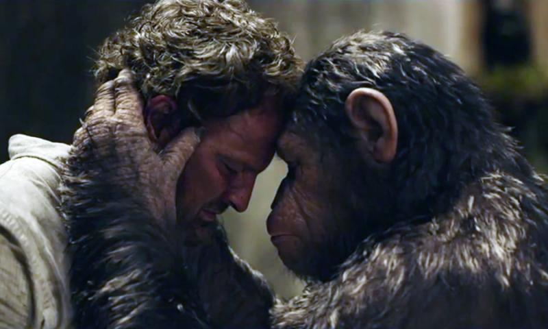 Malcolm en Caesar in Dawn of the Planet of the Apes