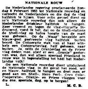 Uit de Leeuwarder Courant van 11 februari 1953