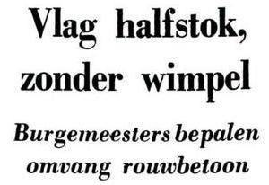 Uit de Leeuwarder Courant van 28 november 1962