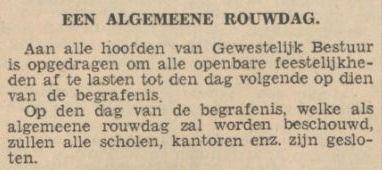 Uit het Nieuwsblad van het Noorden van 5 juli 1934