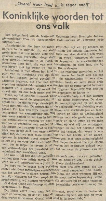 Uit het Nieuwsblad van het Noorden van 9 februari 1953
