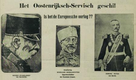 Uit De Volksstem van 2 augustus 1914