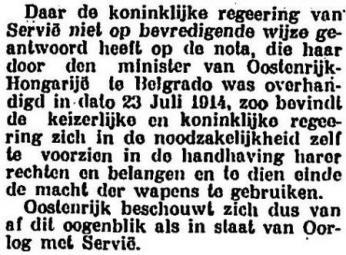 Uit Het Centrum van 19 juli 1914