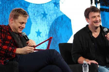 San Diego Comic-Con 2014: Alan Tudyk en Nathan Fillion @ Nerd HQ (Foto: Peter Breuls)