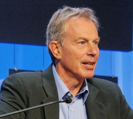 Tony Blair op het World Economic Forum in 2008. Copyright vrijgegeven door het World Economic Forum.