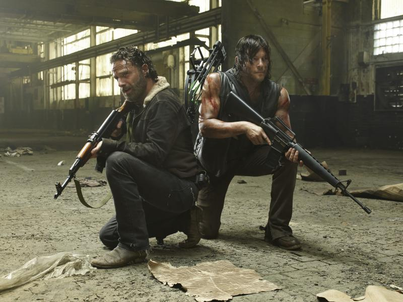 The Walking Dead 5: Andrew Lincoln en Norman Reedus