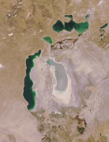 De restanten van het meer in 2008. Copyright vrijgegeven, afbeelding van Wikipedia.