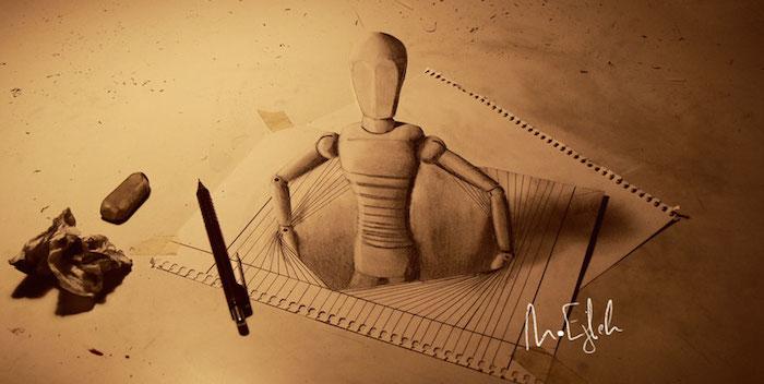 3d effect tekening