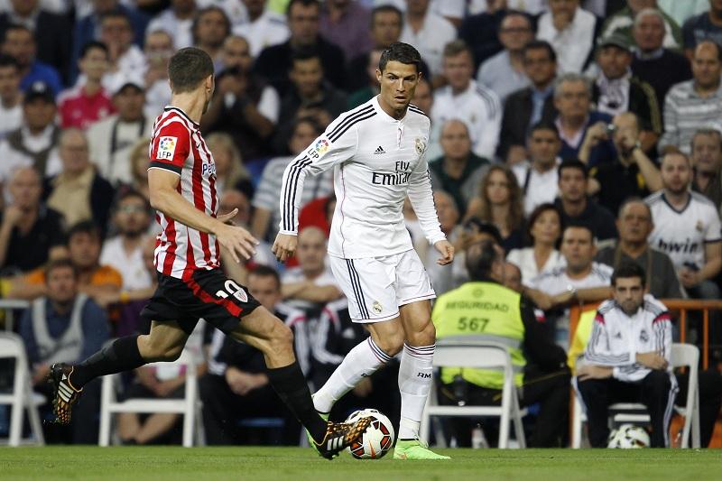 Ronaldo in actie tegen Athletic Bilbao (PRO SHOTS/Gelu Perez)